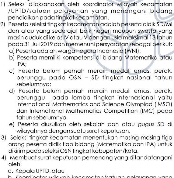 Seleksi OSN SD/MI Tingkat Kecamatan 2019-https://riviewfile.blogspot.com/