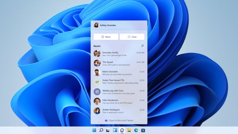 Microsoft introduces 'Chat from Microsoft Teams', directly integrated in the Windows Taskbar