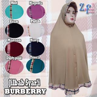 Jilbab-syar'i-burberry-bahan-zoya-murah