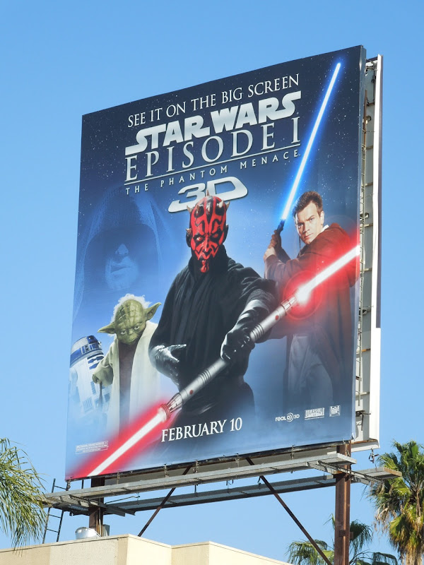 Star Wars Phantom Menace 3D movie billboard