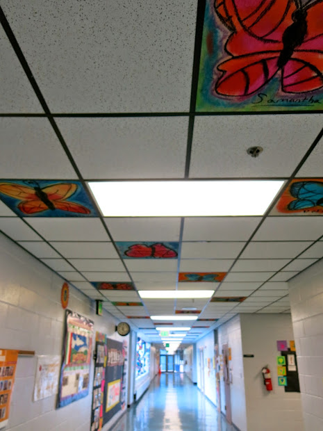 Cassie Stephens In Art Room Chalked Ceiling