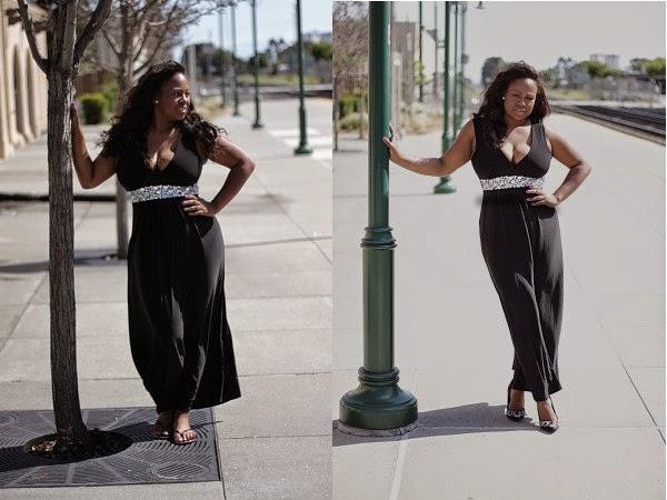 a77f29615f Mahogany Closet Black Maxi Dress Melissa Geddis