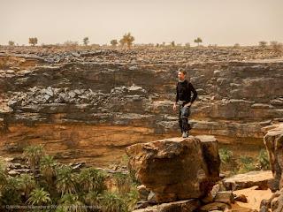 Sulle pareti dell'oasi di El Berbara