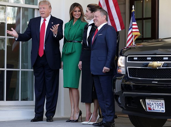 President Donald Trump and First Lady Melania Trump met with Queen Rania and King Abdullah. Melania Trump the best dressed first lady these days