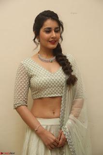 Raashi Khanan looks stunning in Crop Top Deep neck Choli Ghagra Transparent Chunni WOW ~  Exclusive Celebrities Galleries 110.JPG