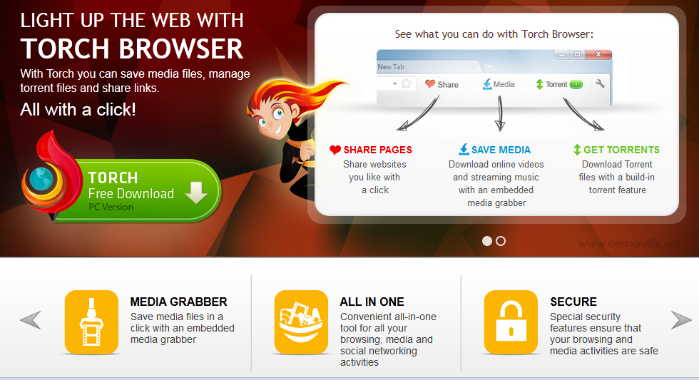 Torch Browser:Your All-in-One must have Web Browser!