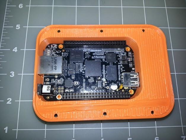3D printable case for BeagleBone credit card sized Linux