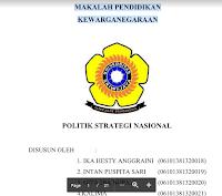 Contoh Makalah Pendidikan Kewarganegaraan Politik Dan Strategi Nasional Pdf Download