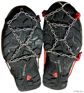 Ice Chains for Trail Running Shoes