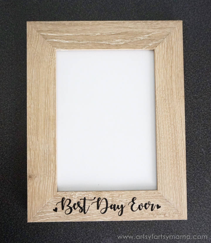 "DIY ""Best Day Ever"" Frame - Custom Newlywed Gift Tote"