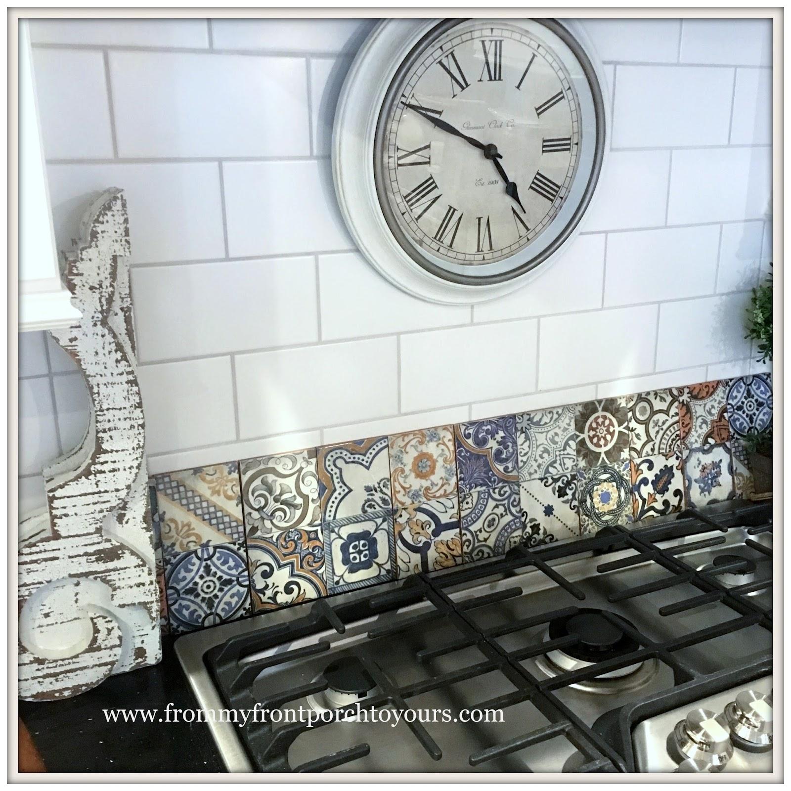 farmhouse kitchen makeover backsplash tile