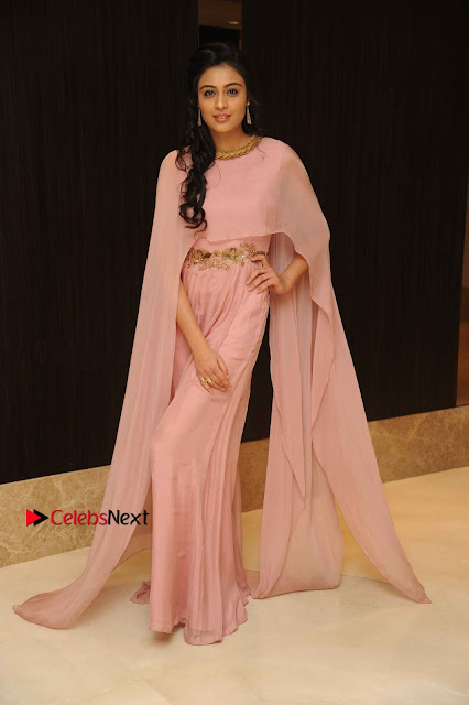 Actress Neha Hinge Stills in a Beautiful Pink Dress at Srivalli Movie Audio Release  0005.jpg