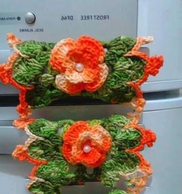 örgüden buzdolabı süsleri