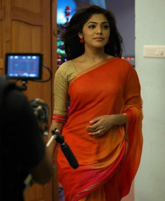 Malayalam Actress Rima Kallingal Hot Navel And Cleavage Show In Saree