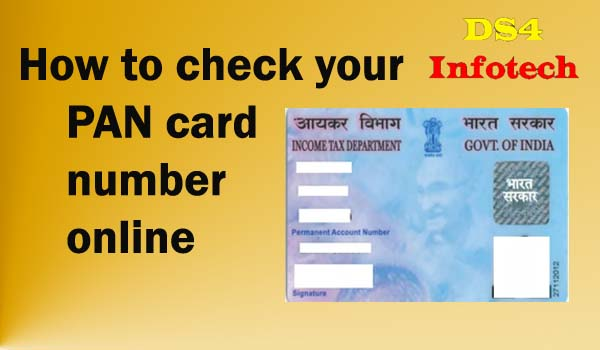 How to check your PAN card number online