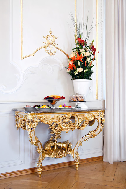 Gold Gilded Console Table with Marble | Cool Chic Style Fashion