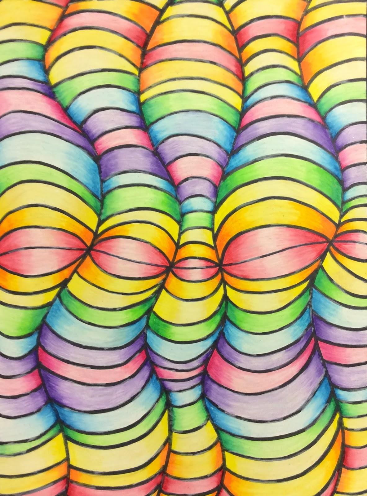 That Little Art Teacher Op Art And Colored Pencil