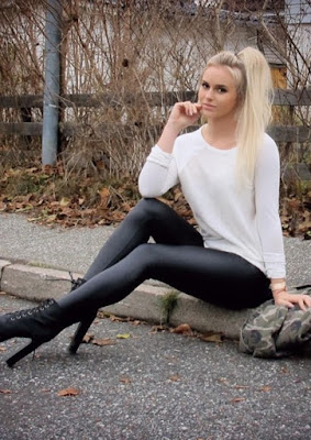 Gymnastic hotgirl Anna Nystrom - Pretty looked with office fashion
