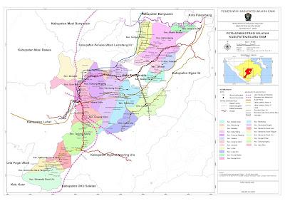 Peta Kabupaten Muara Enim