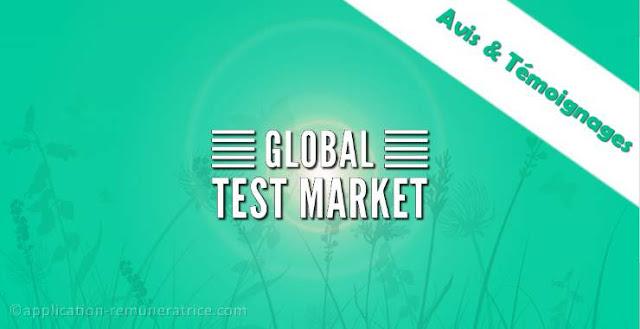 Avis sur GlobalTestMarket : témoignages et preuves de paiement