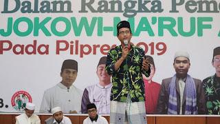 Orasi Bang Aru untuk Jokowi dan Kiai Ma'ruf Amin