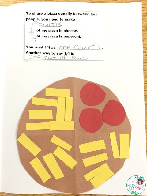 Fractions craft ideas and activities for lesson plans