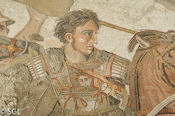 Museo Arqueologico de Napoles. Mosaico batalla Alejandro Magno y Dario en la casa del Fauno