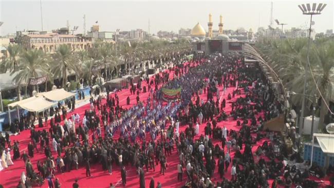 Shia Muslims marking Tasu'a worldwide