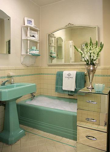 tenant proof design art deco bathrooms. Black Bedroom Furniture Sets. Home Design Ideas