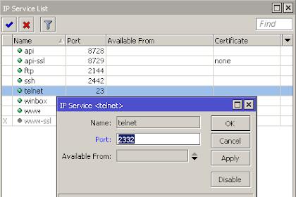 Cara Drop FTP, SSH & Telnet Brute Force di Mikrotik