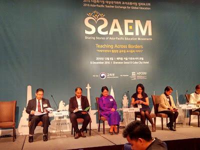Pembentangan bersama wakil kementerian dan guru negara Asia Pasifik