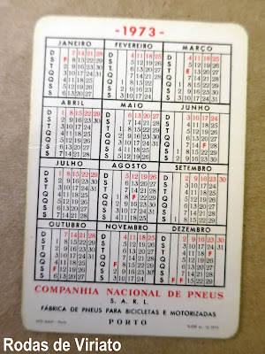 Calendario 1973.Calendario Da Cnp De 1973 Companhia Nacional De Pneus