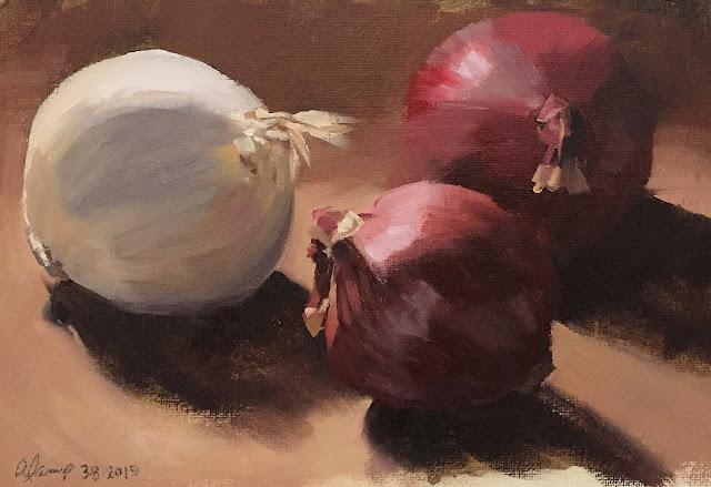 still life study of onions Mar-8-2019