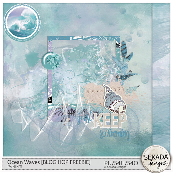Ocean Waves Studio Hop and Freebie and PROMOTION