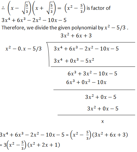NCERT Solutions for Class 10th: Ch 2 Polynomials Math « Study Rankers