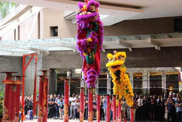 Some lion dances are performed by very skilful people!