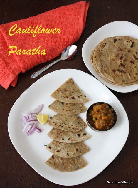 how to make cauliflower paratha