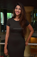 Priya Vadlamani super cute in tight brown dress at Stone Media Films production No 1 movie announcement 053.jpg