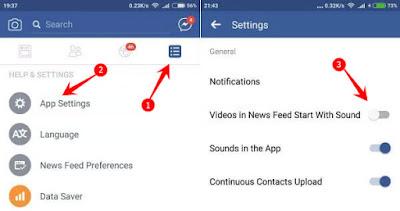 Nonaktifkan Putar Otomatis Suara di Video Facebook