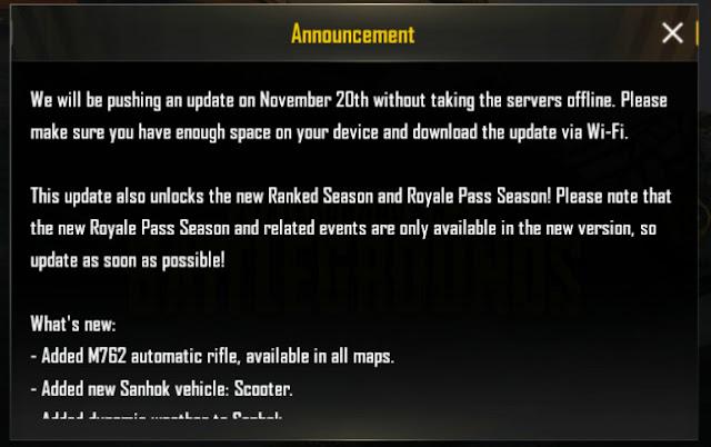 pubg mobile season 4 update download