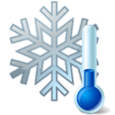 thermometer snowflake