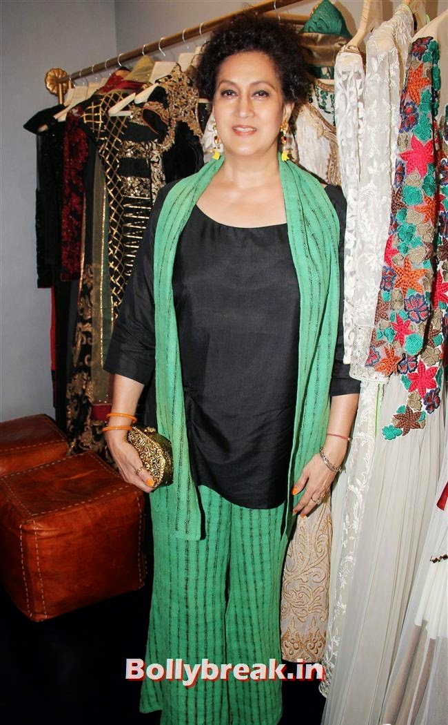 Nazneen Bedi, wife of actor Ranjeet, Celebs at Opening of Mayyur Girotra Couture
