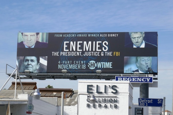 Enemies President Justice FBI billboard