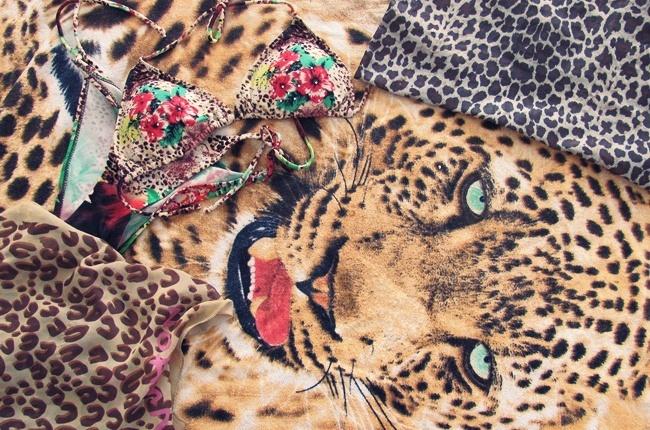 leopard print bikini scarf towel beach bag