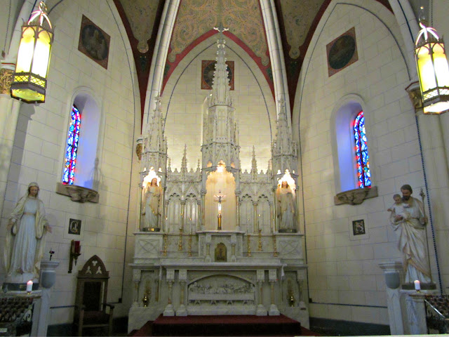 Inside of the Loretto Chapel