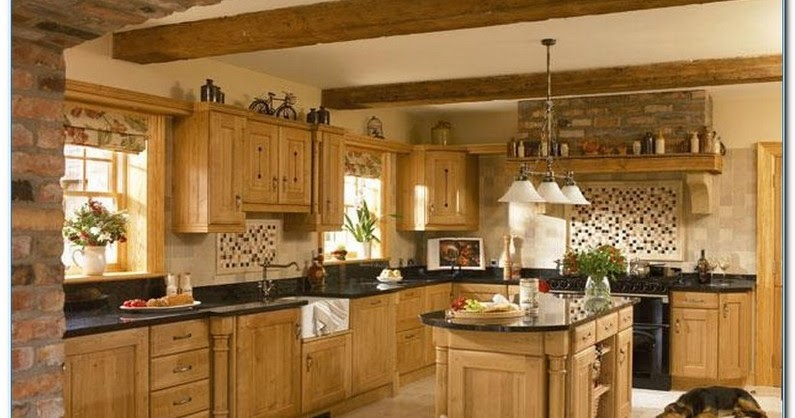 Kitchen Decorating With Oak Cabinets Home Interior Exterior Decor Design Ideas