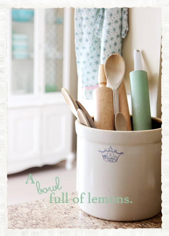 How to store your kitchen utensils… | A Bowl Full of Lemons