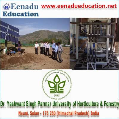 Dr Y. S. Parmar University of Horticulture & Forestry: Lecture Posts