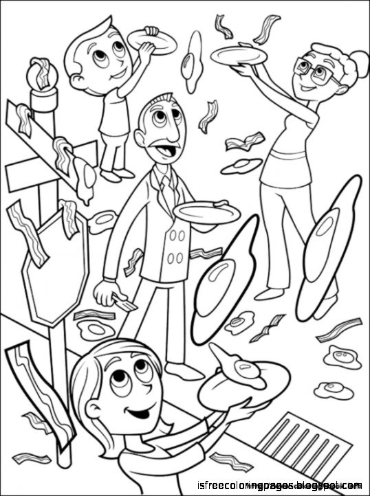 cloudy with a chance of meatballs coloring pages # 11