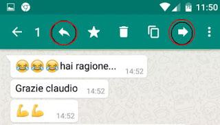 inoltrare messaggi in whatsapp